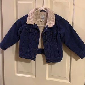 Old Navy Corduroy Toddler jacket. Size 3T. Navy.